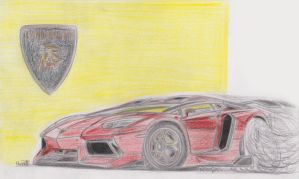 Lamborghini Aventador Toon coloured by theTobs