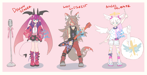 Rock/Metal Monster Adopts - Closed by ChitChatCafe