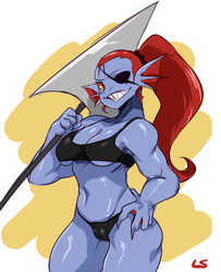 Undyne Dood by 0Lightsource