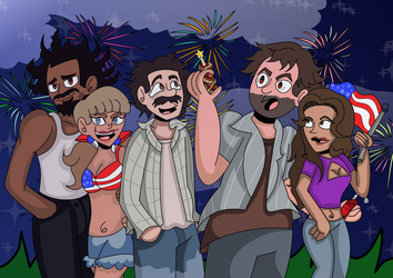 Happy Fourth Of July (My name is Earl Fanart) by Mllermanda