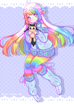 Prize Draw - Rainbow Girl by Eve--chan