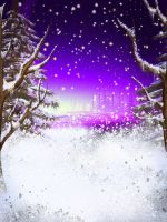 Winter Night FREE BACKGROUND by KlaraKay
