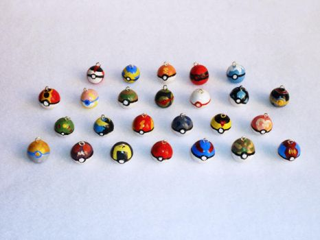 Pokeball Charms by meh-anne