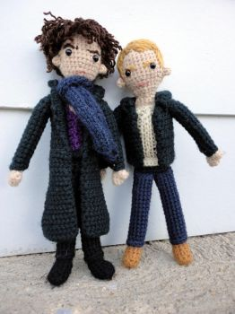 Sherlock and John Together by leftandrightdolls