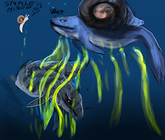 Snaleee Snail Whalee by Mossasaurus