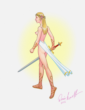 Naked Elf Woman 01 by dloubet