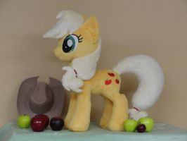 Apple Jack with new mane and tail pattern by WhiteDove-Creations