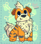 Mr Fluffy Growlithe by RexiDoodle