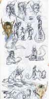 Character dump -Althee/Pein- by Scarlet-Harlequin-N