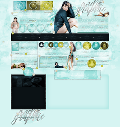 layout ft. Adriana Lima by Andie-Mikaelson
