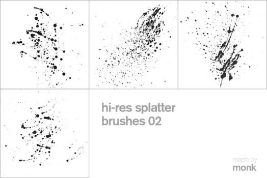 hi-res splatter brushes 02 by karmagraphics