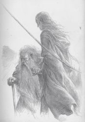 Legolas and Gimli depart by TurnerMohan