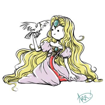 Drawing 32: Princess Emeraude by GoldenAshTree