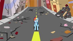 MLP Rainbow Dash and PowerGirls Animation Gif by GT4tube