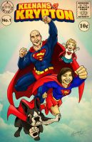 Last Fam of Krypton - Christmas Commish by wheretheresawil