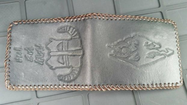 Leather Skyrim wallet by g0tribe95