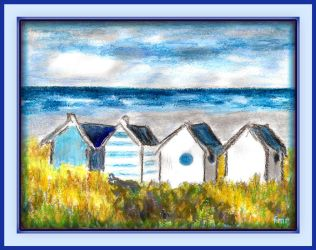 Beach Huts by fmr0