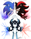 Sonic and shadow_gem fusion by f-sonic