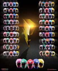 Power Rangers 20th anniversary poster by scottasl