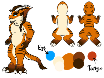 Wyngro - Shay ref sheet (v2) by Anhrak