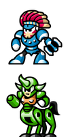 MegaMan 'Sprites'-Bosses of 6 by WaneBlade