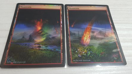 Foil Mountains mtg altered by ChristineArt78