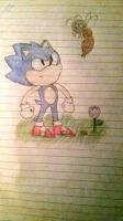 Classic sonic! by kittycathedgehog