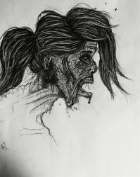 Zombie Drawing by World-of-Artcraft