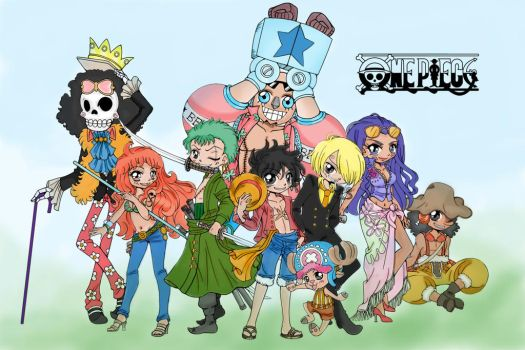 The Straw Hat Crew   One Piece Mega Lineart   By Y by SakuraBleached19