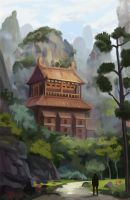 Asian temple by GrayCactus