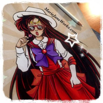 Hipster Mars by MarieJaneWorks