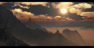 Misty Mountains by TheArtofSaul