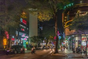 good morning Vietnam - night in Saigon by Rikitza