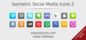 Isometric Social Media Icons 2 by Insofta
