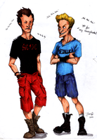 Beavis and Butthead - Restyled by Deceptipunk