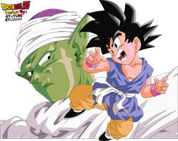 Piccolo and Goku Kid - Vector by GT4tube