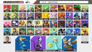 Super Smash Bros. 4  --  Fan-made roster by ReddFloxy