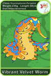 Arecacen Creature Cards: Vibrant Velvet Worm by Chikara-Redwing