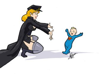 Ms Mercy Baby Supergirl FirstSteps2  Inspector97 by kclcmdr