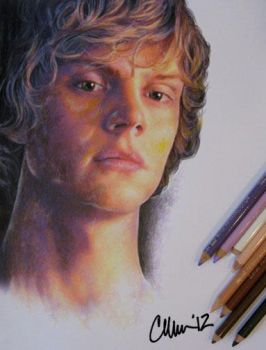Evan Peters Drawing by Live4ArtInLA