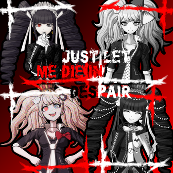 Dangan Ronpa Junko and Celes by Psychonautsmaster