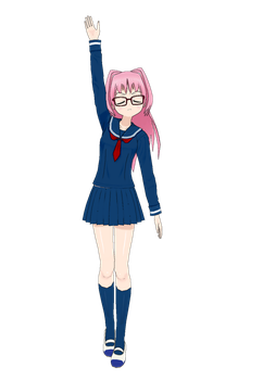 The Long, Pink Haired Girl by Rapier838