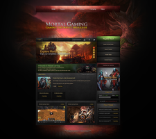 Mortal Gaming Website Design by ZafireHD