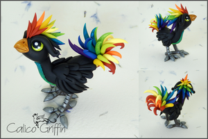 Rainbow Rooster by CalicoGriffin