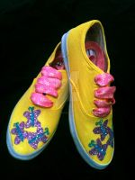Fluttershy Bronie Style Shoes by CosplayPropMaster