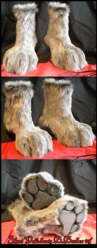 Grey Cat Boots by Magpieb0nes