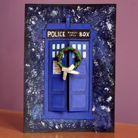 TARDIS Christmas Card by Toxic--Berry