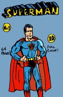 Golden Age Superman (Faux Cover) by LeevanCleefIII