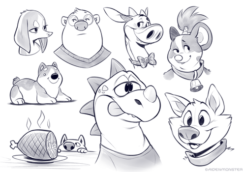 Sketchdump by AidenMonster
