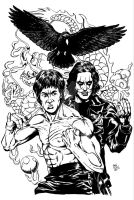 Bruce/Brandon Lee commission by Dogsupreme